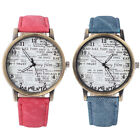 New 2 colors Women Men Vintage English Newspaper Pattern Casual Watches Fashion