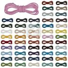 52 Colours 2m Real Round Leather Cord Thong Jewellery Making String 1/1.5/2/3mm