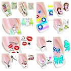 Water transfers Nail Art Stickers Decals 60 Creative Designs Qty & Col optional