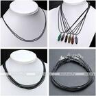 1/1.5/2mm Men Women Black Wax Necklace Cord Chain String For Pendant Making DIY