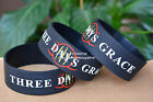 """THREE DAYS GRACE Silicone 1"""" Wide Debossed Filled in Colour Wristband Bracelet"""