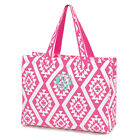 Hot Pink Ikat Tote Overnight Bag by Wholesale Boutique