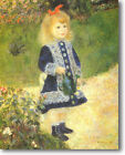 HUGE Renoir Girl Watering Can Stretched Canvas Giclee Art Repro Print ALL SIZES