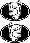 2 Cimarrón Uruguayo dog breed oval RIGHT LEFT decals sticker stickers
