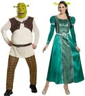 Couples Shrek and Fiona Deluxe Adult Costume Movie Green Disguise Halloween