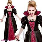 Victorian Vampiress Kids Girls Halloween Dracula Fancy Dress Costume New 2015