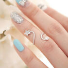 Women New Fashion Sizable Gorgeous Crystal Rhinestone Star Spiral Opening Ring t