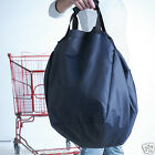 2 x Large Reusable Grocery Tote Shopping Shopper Bag Supermarkets Trolley BN Red