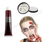 HALLOWEEN ZOMBIE FAKE BLOOD TUBE & WHITE FACE PAINT SPECIAL EFFECTS FANCY DRESS