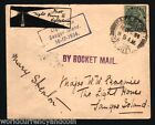 INDIA 1934 KING GEORGE V SAUGOR ISLANDS ROCKET MAIL FLOWN SIGNED HISTORY COVER
