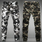 New Stylish Mens Military Army Camo Slacks Slim Fit Trousers Casual Jogger Pants