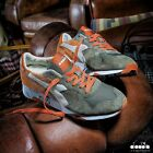 Diadora Heritage Trident 90 S NYL Mens Trainers in Burnt Olive Green Orange