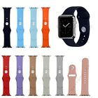 S/L Silicone Sport Watch Band Fitness Wrist Strap For All Apple Watch 38mm 42mm