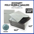 "1-4200 #4 9.5x14.5 ""EcoSwift"" Poly Bubble Mailer Padded Envelope Bags 9.5 x 14.5"