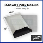"1-10000 14.5x18 ""EcoSwift"" Poly Mailers Envelopes Plastic Shipping Bags 2.35 MIL"