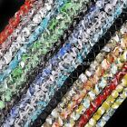 Multicolor Cubic Octagon Crystal Glass Loose Beads 10mm Jewelry Making