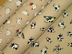 On The Farm Linen Look Fabric Curtain Blinds Craft Quilting Patchwork Upholstery
