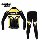 SANTIC Bike Racing Team Professional 4D Pad Long Bicycle Years Suits Blue Color