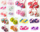 Kids Girls Hair Accessories Ribbons Bows Elastic Bobbles Ponytail Holder Clips