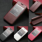 Luxury Flip Leather View Window Case kickstand Cover For Huawei Ascend Honor