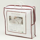 Luxury Natural Silk Microfibre Filled Double Bed Duvet 18.0 Tog