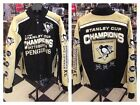 NHL Pittsburgh Penguins Commemorative Champions Twill Jacket 2015 New with Tags
