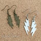 ER2863 Graceful Garden Vintage Style Small Lightning Bolt Charm Dangle Earrings