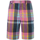 Callaway Golf Mens X Series Multicast Plaid Shorts Performance Stretch CGBS5079