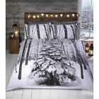 White Christmas Snow Winter Single Double Queen King Bed Quilt Doona Cover Set