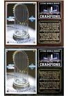 Kansas City Royals 2-Time World Series Champions Photo Plaque on Ebay