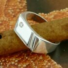 STERLING SILVER RING WITH A STONE SOLID .925 /NEW SIZE J-Y JEWELLERY
