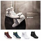 New Paperplanes PP1334 Womens Lace Up Hi Top Wedge Sneakers Trainer Boots