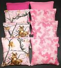 All Weather Resin Filled Cornhole Bean Bags REALTREE Pink Camo Deer Camoflauge