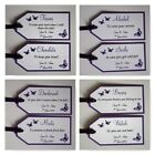 Handmade BUTTERFLY wedding : GROOM SURVIVAL KIT TAG SET, 60 colours, any qty