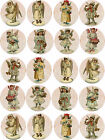 angel stickers scrapbooking - Vintage angel circle round bottle cap stickers  30 1.5