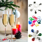 Wine Glass Charm Rings Christmas Wedding Gift Secret Santa Charms Favours Party