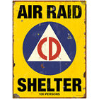 Air Raid Shelter Civil Defense Wall Decal Weathered 60s Disaster Decor