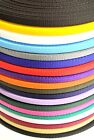 2,5,10,25 Metres Of 16mm Webbing In Various Colours For Leads,Bags,Straps,Crafts