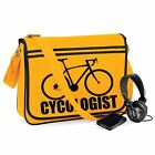 Cycologist-Unisex Funny Jokes Sayings Novelty Bagbase Retro Messenger Bag