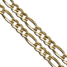 Gold Plated Stainless Steel Figaro Chain 6mm New Solid Link Necklace