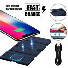 Fast Charging Car Wireless Phone Charger Pad Mat Mount For iPhone 11 Samsung S10