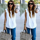 New Sexy Women Vest Sleeveless Shirt Blouse Summer Casual Chiffon Loose Tops