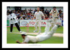 England Ashes 2005 Andrew Strauss Diving Catch Cricket Photo Memorabilia (523)