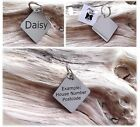 Pet ID Tag Personalised Engraved Polished Stainless Steel Scooby Dog Cat PawGear