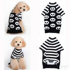 Christmas Pet Dog puppy Jumper skull Jacket Clothes Winter Sweater Coat  Apparel