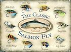 New The Classic Salmon Fly Metal Tin Sign