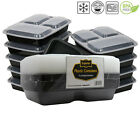 Microwave & Dishwasher Safe Compartment Meal Prep Plastic Food Containers 10 Pcs