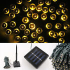 100 200 LED Solar Power Fairy String Light Party Garden Outdoor Christmas Tree