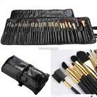 Pro Make up 32 PCS Makeup Brush Set Cosmetic Brushes Kit  W/ Black Pouch Cases