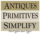 3 STENCILS Antiques Primitive Simplify Gatherings Country Home Decor Craft Signs